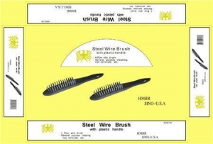 China STEEL WIRE BRUSH-PLASTIC HANDLE on sale