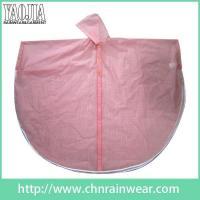 Batch customization Pink Women Toddler Work PVC Plastic Rain Cape Ponchos Gear