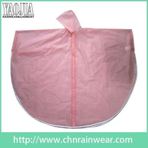 China Batch customization Pink Women Toddler Work PVC Plastic Rain Cape Ponchos Gear on sale