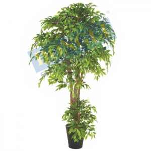 China Nature Trunk Ornamental Artificial Mini Ficus Trees 2100LVS Fake Indoor Plant 18395 on sale