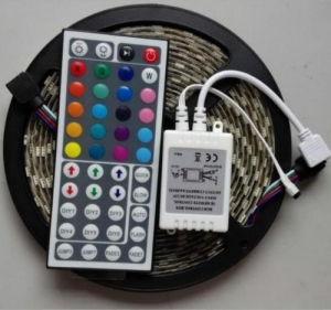 China Fairy Lights Flexible RGB LED Strip 5M 300 LED with 44 Keys IR Remote Control on sale