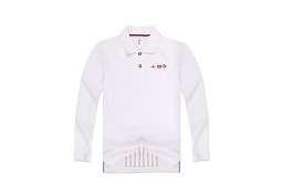 China kids long sleeve polo shirts New 100% Cotton Kids Long Sleeve Embroidery Polo-shirt on sale