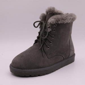 China Winter Genuine Leather and Lace Up Wholesale Women Snow Boots.ladies Winter Boots in Stock on sale