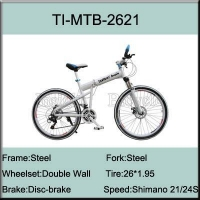TI-MTB-2621 26 Steel Shimano 21 Speed Folding Mountain Bike