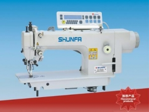 China SF 0303D DIRECT DRIVE COMPUTERIZED DOUBLE SYNCHRONOUS HEAVY DUTY LOCKSTITCH SEWING MACHINE on sale