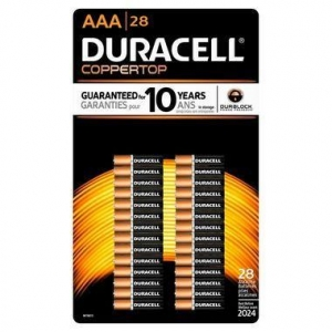 China Duracell Coppertop AAA Batteries - Alkaline 28 Pack - MN2400 on sale