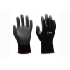 China 13G black nylon liner with black PU coating Gloves for sale