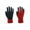 China 13G red nylon liner with sandy nitrile coating Gloves for sale
