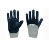 China Jersey liner with  blue nitrile coating Gloves, knit wrist for sale