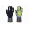China 13G cut-resistant fiber liner with sandy nitrile coating Gloves for sale