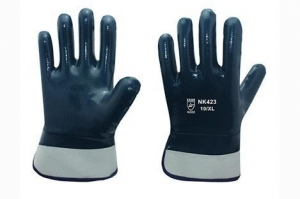 Quality Cotton Jersey liner with full nitrile coating Gloves for sale