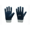 China Cotton jersey liner with full nitile coating Gloves, knit wrist for sale