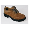 China Low-cut Cow Suede Anti smashing safety shoes/ Brown for sale