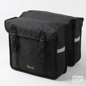 China AZO free polyester double sided bag bicycle trunk pannier on sale