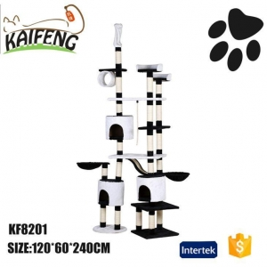 China 2016 Amazon KF8201 Indoor Cat Tower Scratcher Cat Activity Centre For Big Cats Scratching on sale