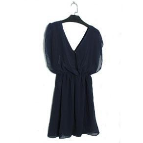 China summer dress,Elegant Chiffon Deep V neck Women Dress on sale