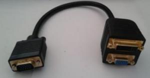 China VGA Male To VGA Female+DVI(24+5)Female Adaptor on sale