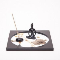 Asian Japanese Feng Shui Sand Zen Garden Yoga & Incense HY173