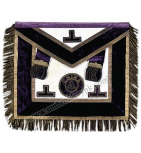 China Purple Grand Logde Masonic Embroidery Regalia Apron Art # EMB-41-117 on sale