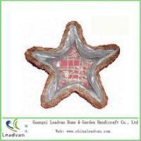 China Beautiful handmade Chrismas ornaments rattan basket for decoration flowers on sale