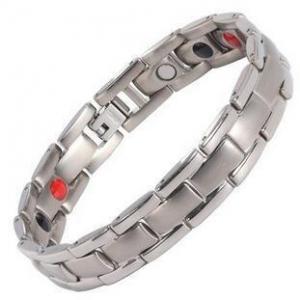 China Stainless Steel Bracelet 4 Element Magnetic Bracelets Hematite Health Wristband on sale