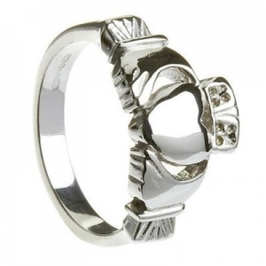 China Sterling Silver Traditional Heavy Men's Claddagh Ring 11.4mm on sale