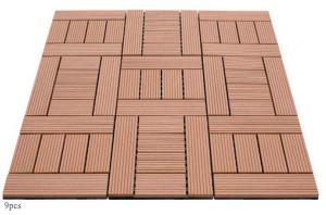 China Non-slip Bathroom Tile WPC Deck Tile Sauna DIY Flooring on sale