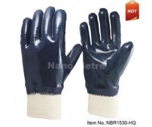 China Blue Nitrile Palm Coated Gloves-NBR1530-HQ on sale