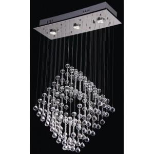 China Modern crystal wall lamp Square pendant light fixture on sale