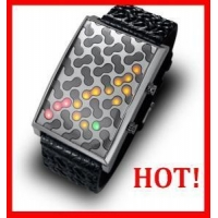 China led binary watch on sale