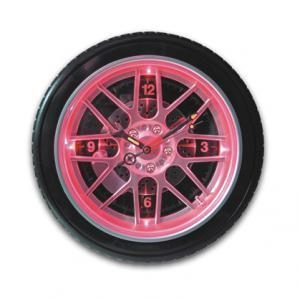 China led tire Wall Clock,led clock,wheel clock on sale