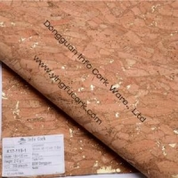 cork fabric PU leather for shoes