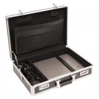 Black Panel Aluminum Brief Case With Lint Lining
