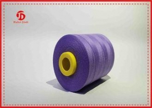 China Eco Friendly Ring Spun Polyester Dope Dyed Yarn For Knitting Gloves / Hats Purple on sale