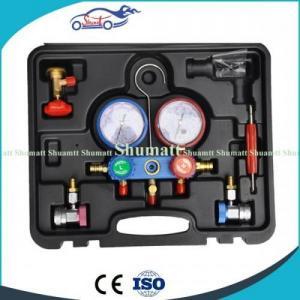 China Hvac Freon Car Garage Repair Tool R134a R22 Refrigerant Ac Diagnostic Manifold Gauge Tester on sale