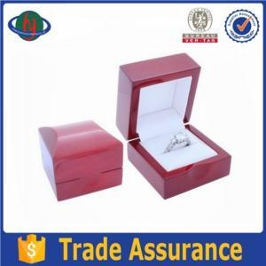 China Luxurious High Glossy Small Wooden Box For Jewelry Ring on sale