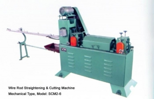 China MECHANICAL ROD STRAIGHTENING AND CUTTING MACHINE on sale