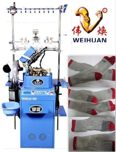China 3.75'' 7f Computerized Select Terry Sock Knitting Machine on sale