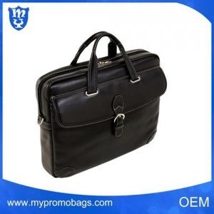 China Fashion men classic Leather Laptop Briefcase shoulder bag on sale