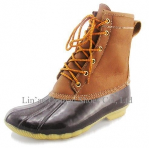 China Women Winter Snow Boots With Leather Upper Rubber Outsole on sale