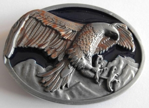 China western style of belt buckle with eagle design on sale