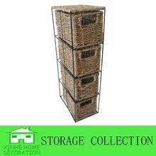 China durable seagrass canvas laundry basket on sale