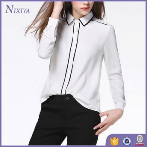 China Model Chiffon Blouse Designs, New Model Neck Blouses 2016 New Designs on sale