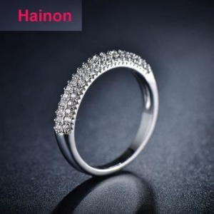 China Top jewelry micro pave AAA zircon ring 925 sterling silver engagement ring supplier