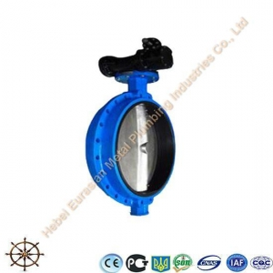 China CIB-21 Single Flanged Gear Operated Butterfly Valve on sale