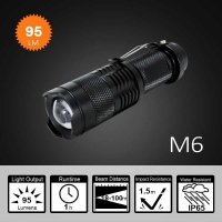 China Mini AA Flashlight With Convex Lens on sale