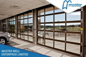 China CLEAR VIEW POLY CARBONATE ALUMINUM SECTIONAL DOOR on sale