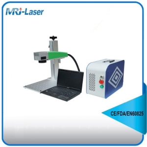 China 20W Mini Portable Air Cooling Fiber Laser Marking Machine On Metal on sale