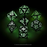 Tribal Glow in the Dark 7-Dice Set
