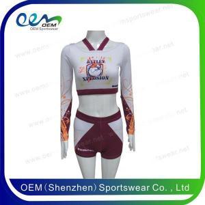 China sublimation cheerleading uniforms on sale